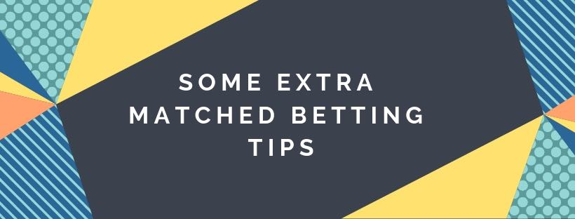 matched betting tips