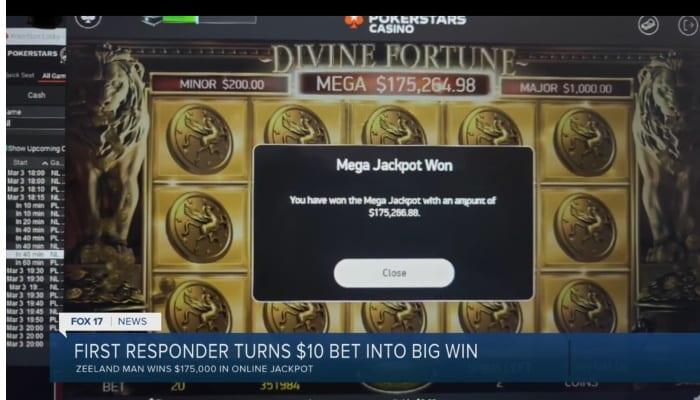 Divine Fortune Big Jackpot Win From PokerStars MI