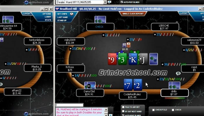 CodeRed 4 Tables Of 25 NLHE