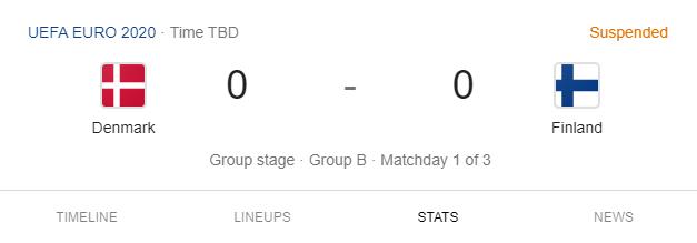 UEFA EURO 2020. Denmark vs. Finland
